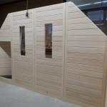 Dachschrägen Sauna Entstehung