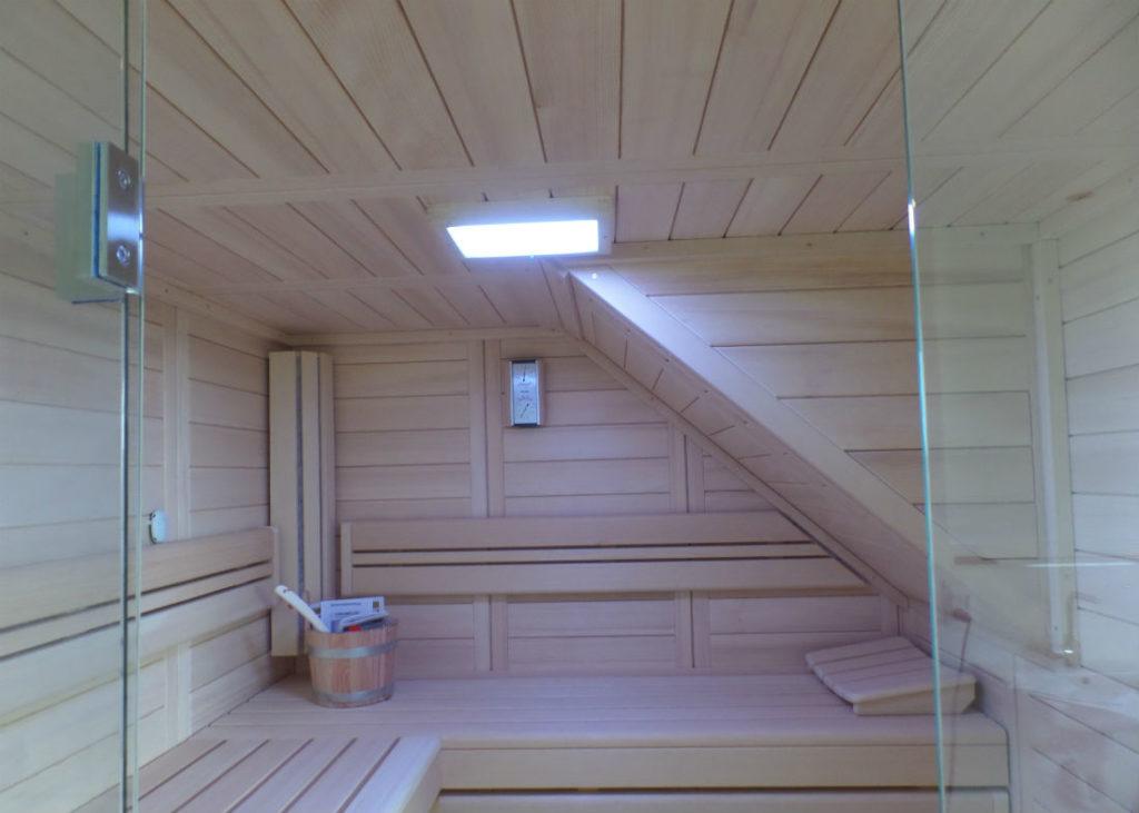 Sauna integrierte Bereiche eines Daches